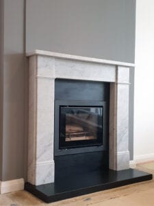 Hersham Marble Surround Fireplace in Bishops Stortford