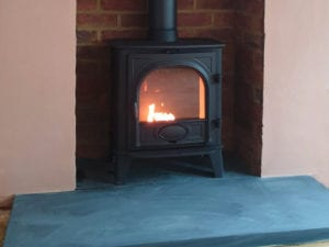 Stovac stove installation in Stansted