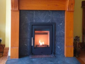 Replace open fireplace with Stove Installation